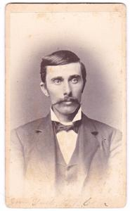 1870s Daniel Bernard Cook, D.B Cook, CDV Photo, Sioux Falls, S Dakota