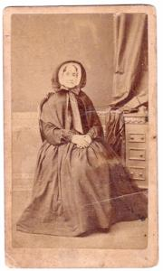 1860's Ann Lewis Brown CDV Photo, Birmingham, Warwickshire, England