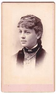 1870's Ida F. Baker CDV Photo, Keene, Cheshire County, New Hampshire