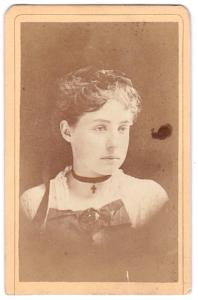 1870's Mrs Millford Watson CDV Photo, Williamsport, Lycoming County PA