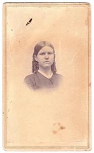 1860's Lucy A. Oakes CDV Photo, Victorian Ringlets in Hair, Found MN