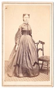 1860's Florence Clark Photo, Coaticook, Quebec, Canada to Lawrence MA