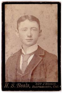 1891 Eddie O'Neill CDV Photo, born 1873, Sacramento County, California