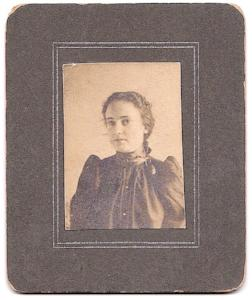 1900 Mercy Belle Tamsett Harrington Photo, Oneonta, Otsego County NY