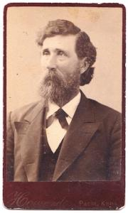 1870's Judge W.R. or William Ross Wagstaff CDV Photo, Paola, Kansas