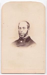 1860's Stephen Parsons signed CDV Photo, Albany County, New York