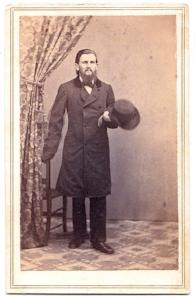 1860's Ward Edward Allen CDV Photo, Worcester County, Massachusetts