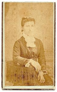 1870s C. Kate Sauer signed CDV Photo, Lanark, Carroll County, Illinois
