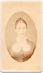 1870's Susan Druck Wambaugh CDV Photo, York County, York, Pennsylvania