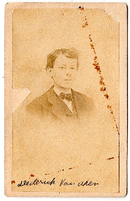 1860's Dederick VanAken, Van Aken CDV Photo, Kingston, Ulster, NY