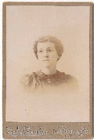1890's Sarah Ellen Clinkinbeard Miller Cabinet Photo, California
