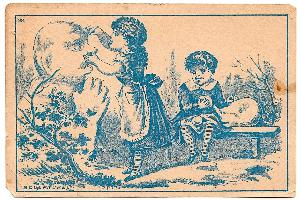 1880's Tusten & Sarah VanDuzer VanDuzen Pillow Store Ad Trade Card, NJ