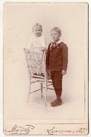 1890's Ben & John Fogler Photo, Leavenworth, Kansas & Somerset, Maine