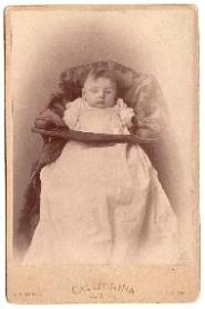 c. 1890 Walter Lewarn's daughter Cabinet Baby Photo, MA to California