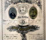 1872 Hollis Andrews & Libbie Sutliff Marriage Certificate, Corinth NY