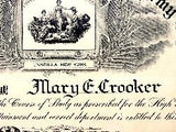 1924 Mary E. Crooker High School Diploma, Unadilla High School NY