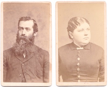1884 George Franklin Jones & Martha Harrington 2 CDV Photos, Boston MA