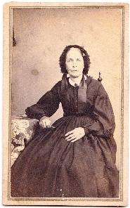 1860's Cynthia Stiles Civil War era CDV Photo, Battle Creek, Michigan