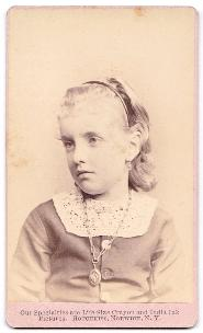 "1875 ""Hattie"" Harriett Merchant signed CDV Photo, Chenango County, NY"