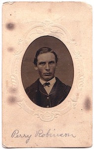 1860's Perry Robinson signed Tintype Photo, Found in Ulster, New York