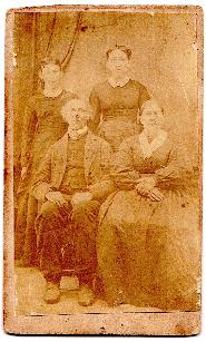 1870's George Oldt & family CDV Photo, Middlecreek, Snyder County PA