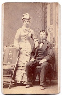1879 Jacob Hector Brandstatt & Lena Long Photo, Kansas to California