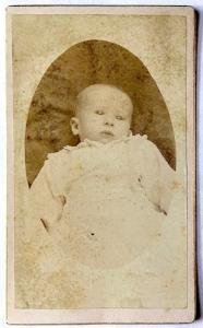 1870's Ed Foley CDV Baby Photo, Cornwall, Ontario, Canada