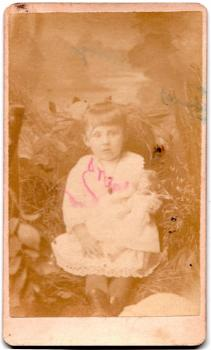 1880s Josephine Carey's Daughter Photo, Cedar Rapids, Linn County Iowa
