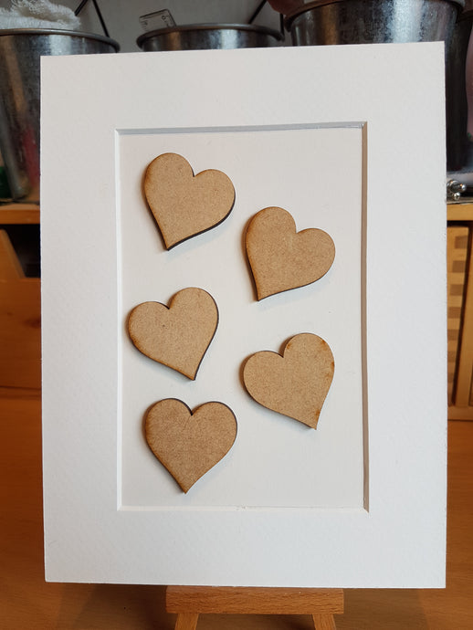 Heart Laser Cut from 3mm MDF Various Sizes Available