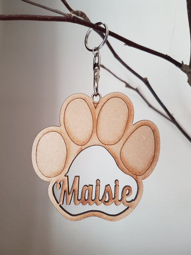 Dog Paw Hanging Decoration - Personalised