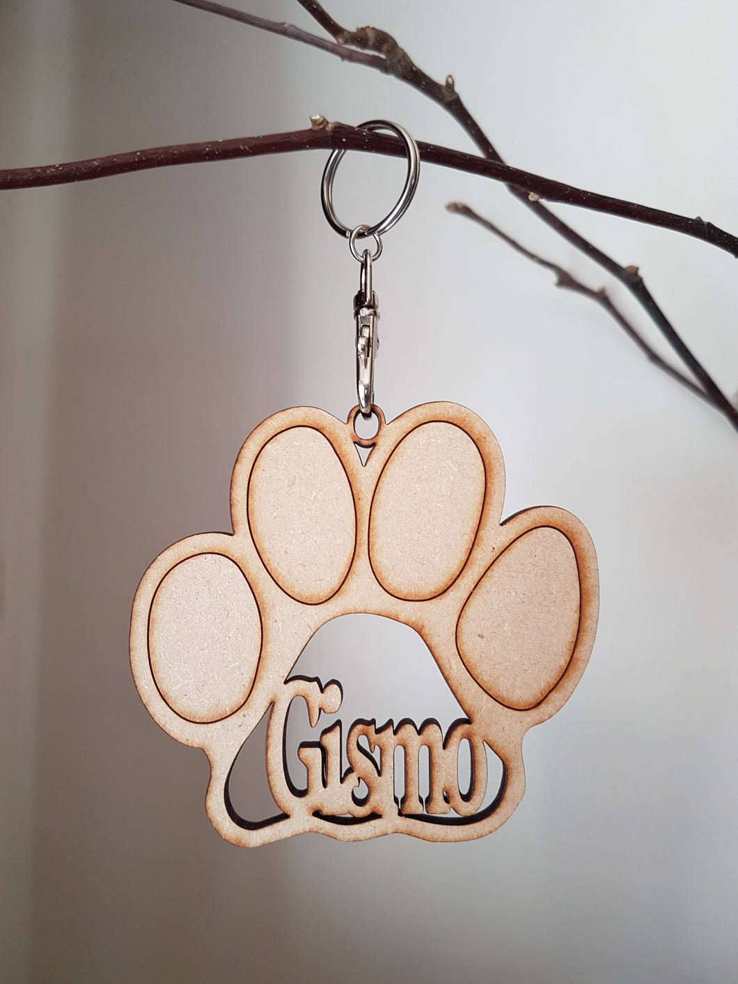 Cat Paw Hanging Decoration - Personalised