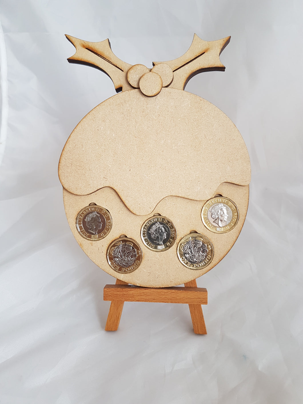 3D Christmas Pudding Coin Holder
