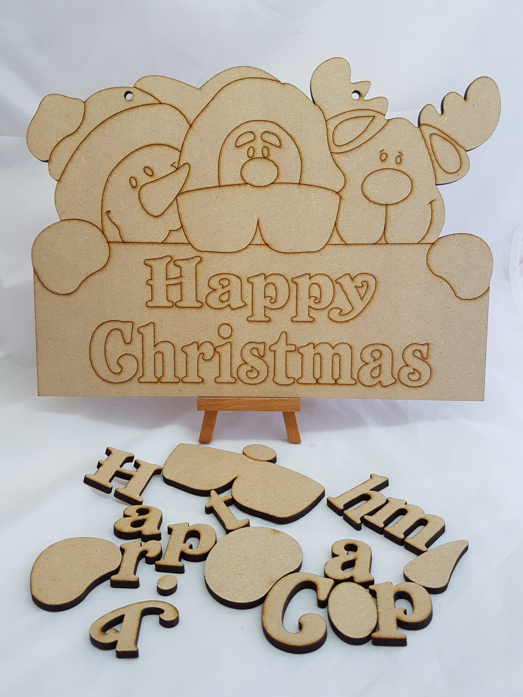 3D Christmas Friends 'Happy Christmas' Wall Hanging