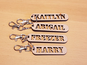Personalised Name Tag with Key Ring