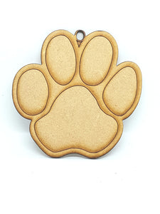 Plain Dog Paw Hanging Decoration