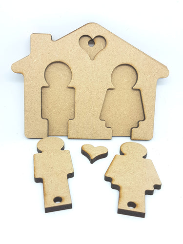 His-n-Hers House Shaped Key Ring Holder