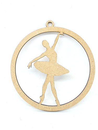 Ballet Dancer in Hanging Bauble Shape