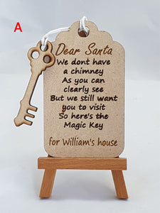 Personalised Santa Tag and Key