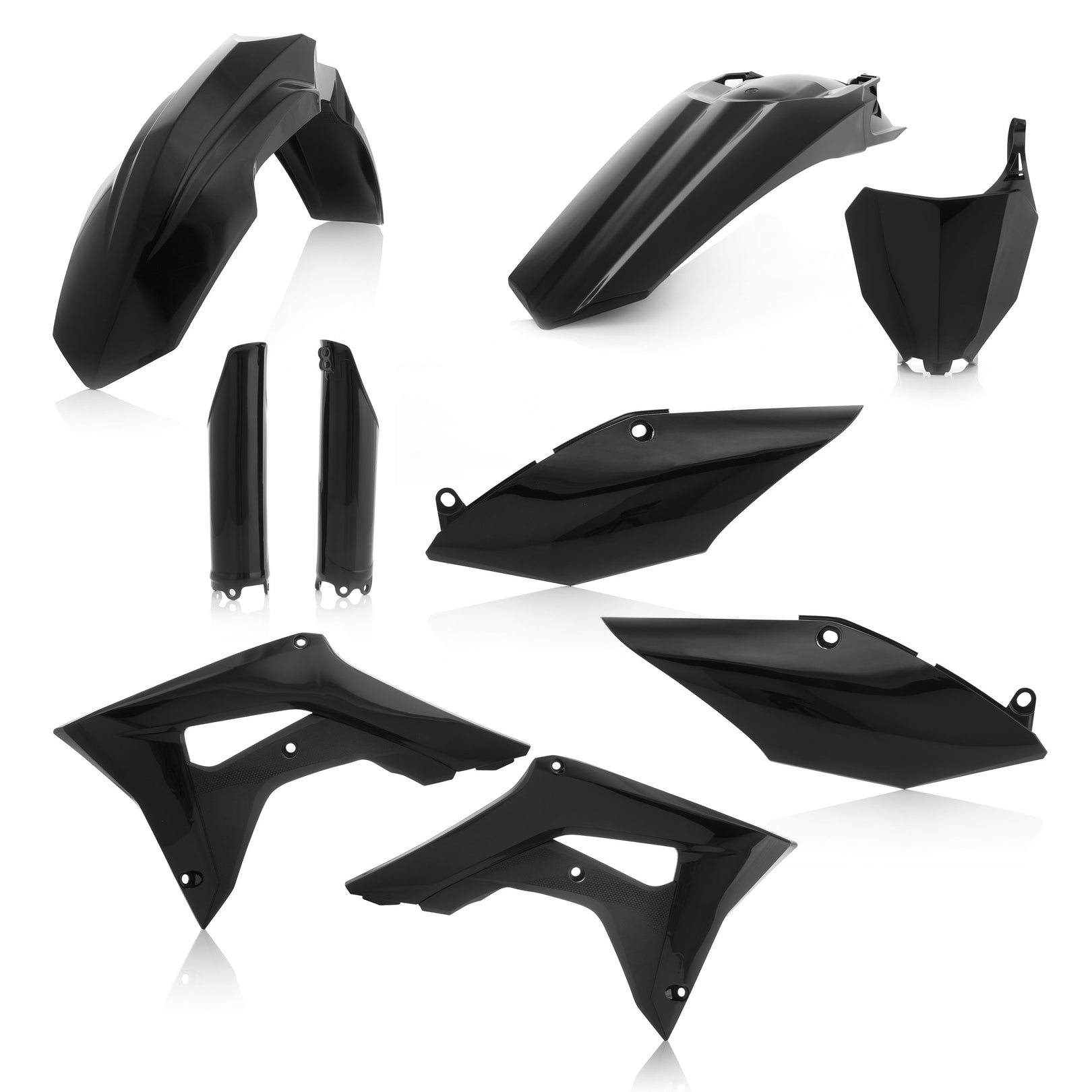 HONDA FULL PLASTIC KIT - BLACK - CRF250R: 18, CRF450R: 17-18 - Acerbis