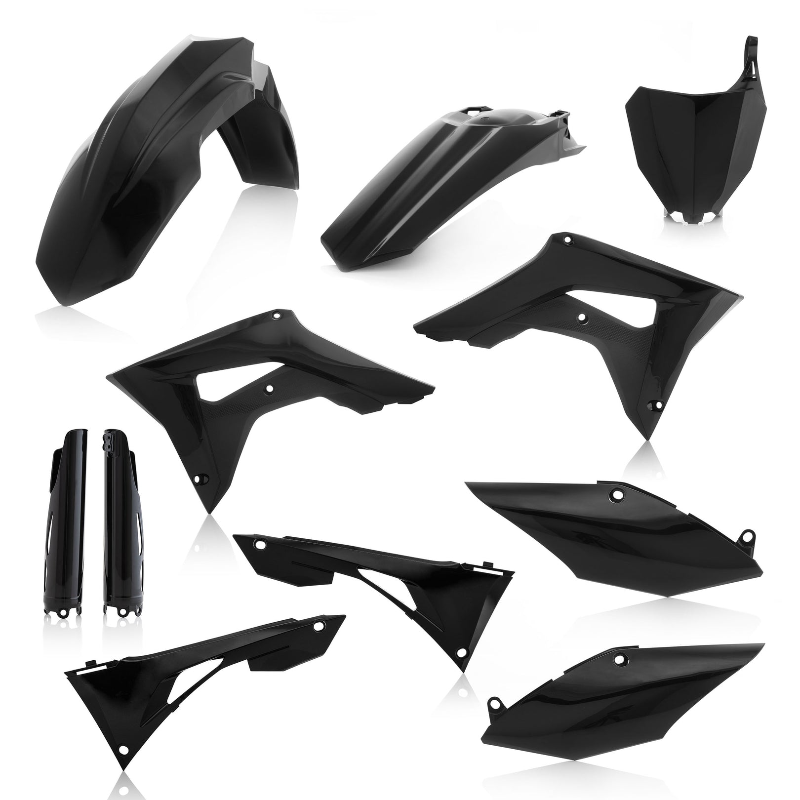 HONDA FULL PLASTIC KIT - BLACK - CRF250R/450R: 19-20 - Acerbis (includes airbox cover, does not include the tank cover)