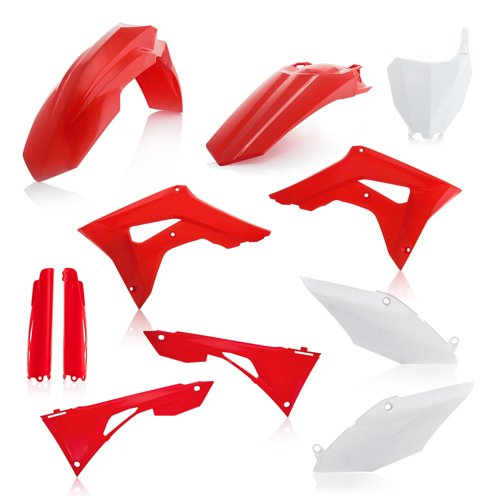 HONDA FULL PLASTIC KIT - Original - CRF250R/450R: 19-20 - Acerbis (includes airbox cover, does not include the tank cover)