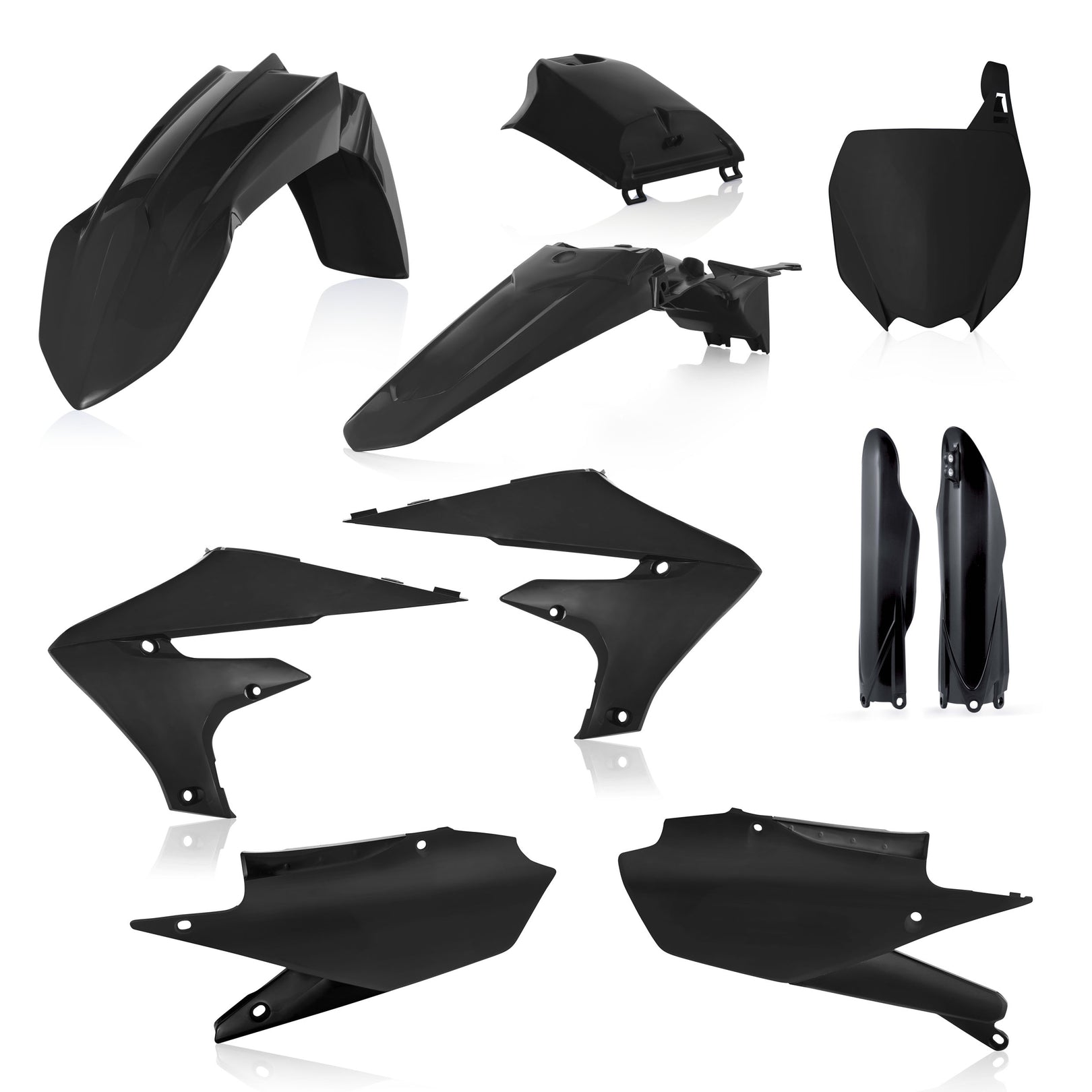 YAMAHA FULL PLASTIC KIT - BLACK YZ250F: 19-20, YZ250FX: 20, YZ450F: 18-20, YZ450FX: 19-20 - Acerbis (includes tank cover)