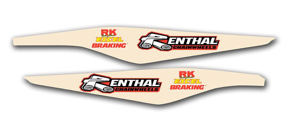 KTM Swingarm Decals | Clear