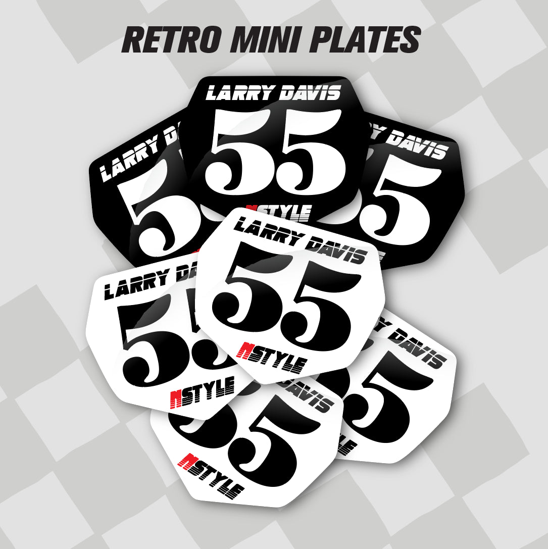 Retro Mini Name Plates