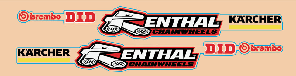 TLD KTM Team Swingarm Decals | Clear