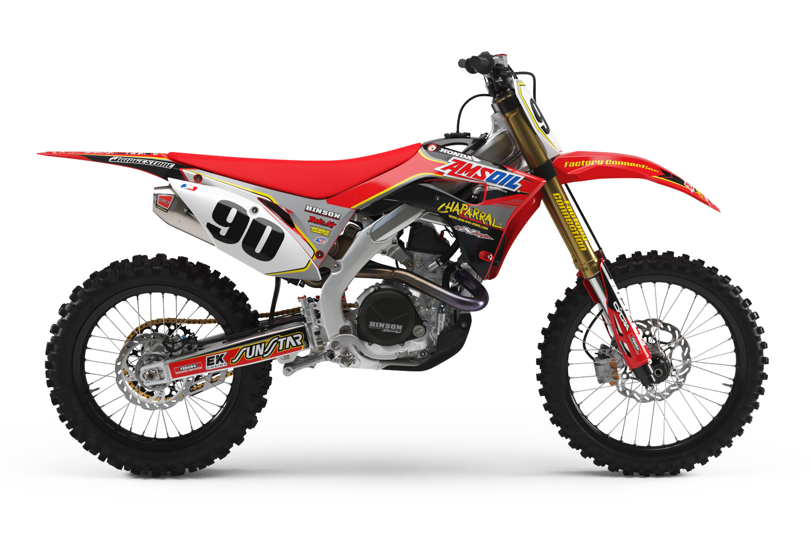 Ready-Made | AmsOil Factory Connection Graphic Kit Fits HONDA