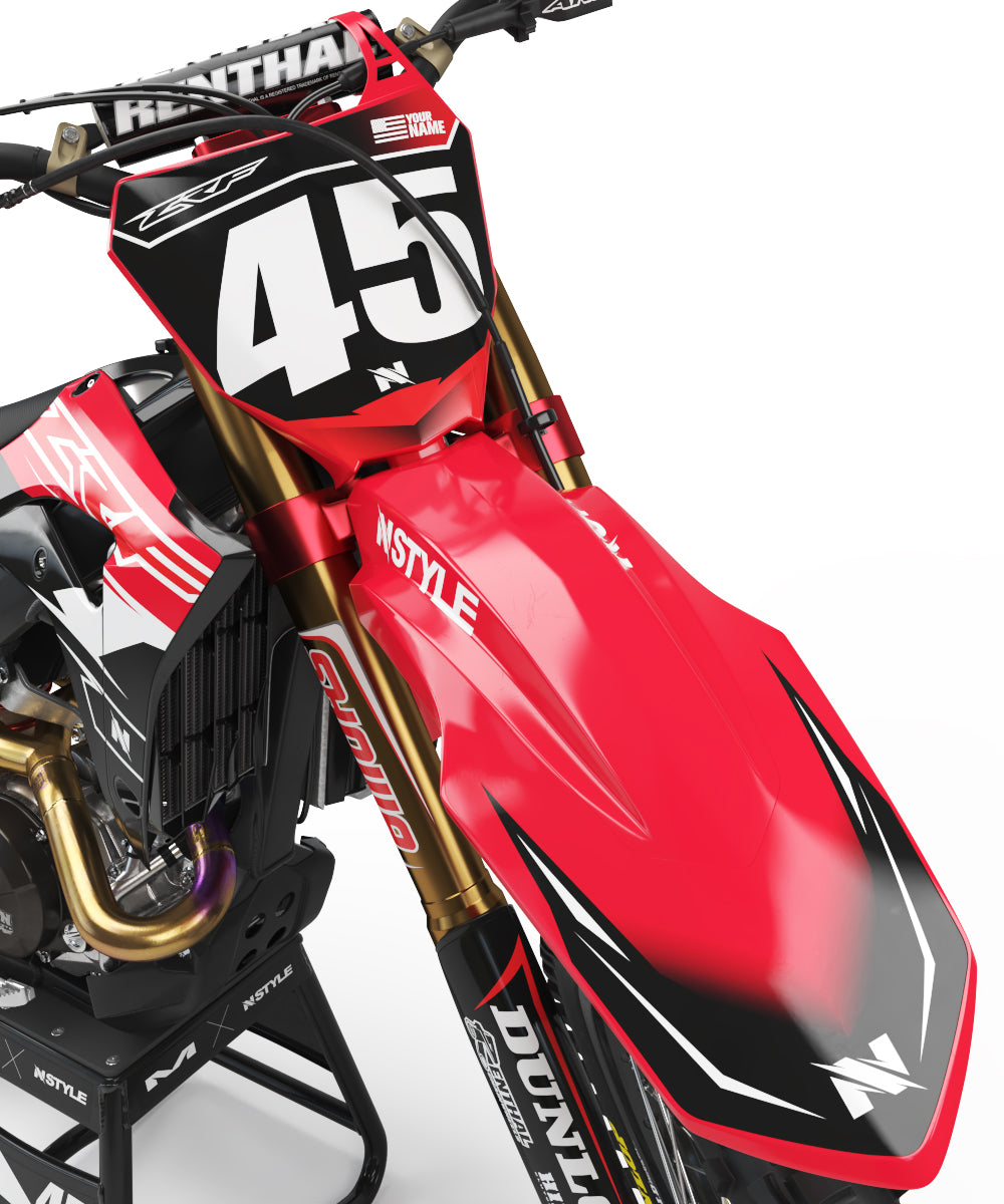 ATTACK Red Graphic for HONDA
