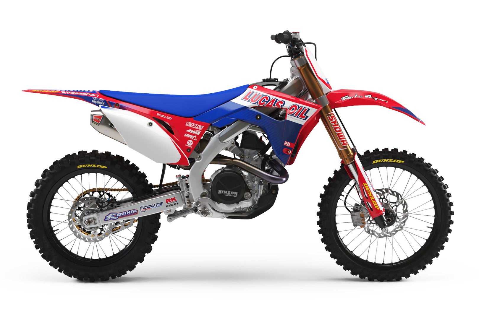 2011 TLD Lucas Oil Graphic Kit Honda