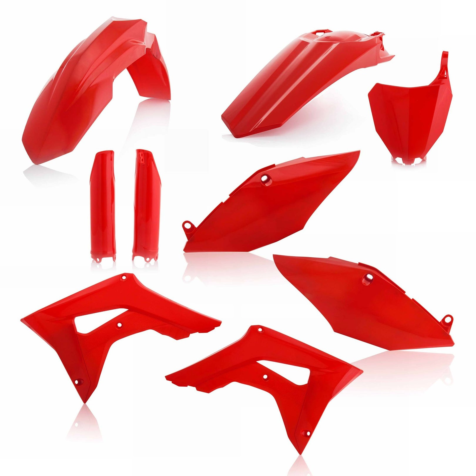 HONDA FULL PLASTIC KIT - RED - CRF250R/450R: 19-20 - Acerbis (includes airbox cover, does not include the tank cover)