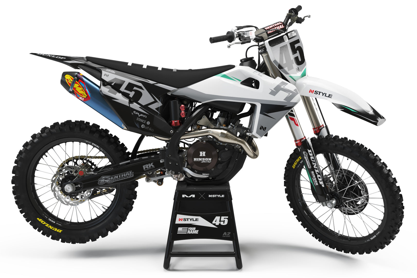 ATTACK White|Grey Graphic Kit Husqvarna